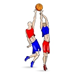 Volleyball sports game vector image