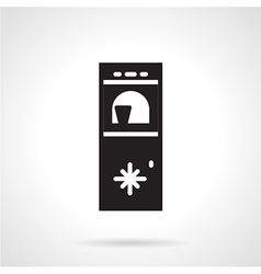 Water cooler black icon vector
