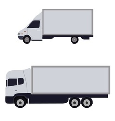 white trucks sideways vector image
