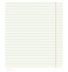 Clean notebook sheet in line with the fields vector