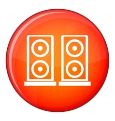 Music speakers icon flat style vector