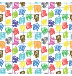 Seamless pattern with coloured scrawl vector