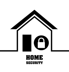 Home security system lock privacy protection vector
