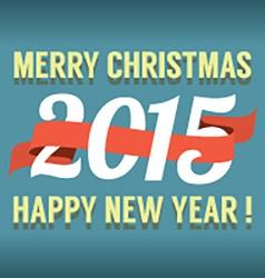 2015 Vintage New Year Calendar vector image vector image