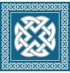 Celtic knotsymbol represents four Earth elements vector image