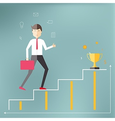 Young professional up the career ladder vector image