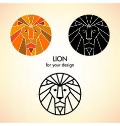 Lion head vector