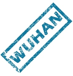 Wuhan rubber stamp vector