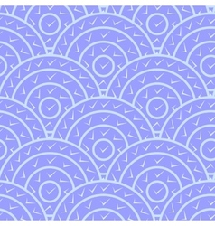 Circle With Tick Shape Seamless Pattern vector image