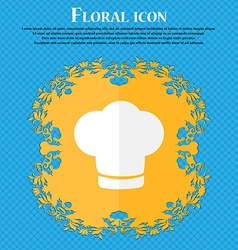 Chef hat sign icon cooking symbol cooks hat floral vector