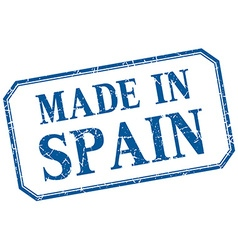 Spain - made in blue vintage isolated label vector