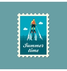 Flyboard stamp summer vacation vector