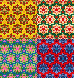 arabic texture set Ramadan seamless pattern vector image vector image