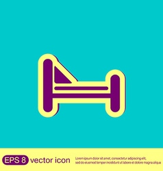 bed symbol sign symbol or hotel stay vector image vector image