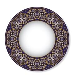 Blue oriental tray vector
