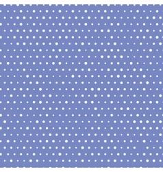 Blue Polka Seamless vector image vector image