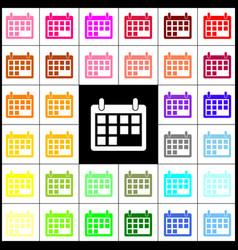 Calendar sign felt-pen 33 vector