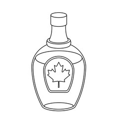 canadian maple syrup in a bottle canada single vector image vector image
