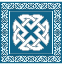 Celtic knotsymbol represents four Earth elements vector image vector image