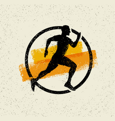 creative sport running motivation sign on grunge vector image