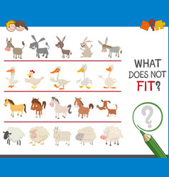 Find wrong animal in the row vector