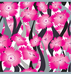 Flower wave seamless background floral pattern vector