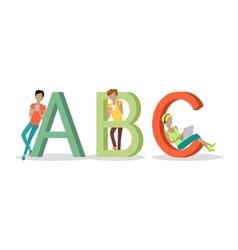 Gadget alphabet letter - a b c vector