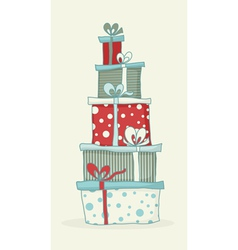 gift box tower vector image vector image