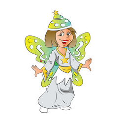 girl in fairy costume vector image