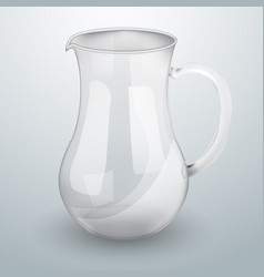 Glass decanter for water or juice vector