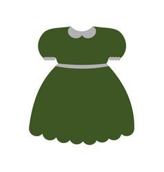 Green dress icon vector