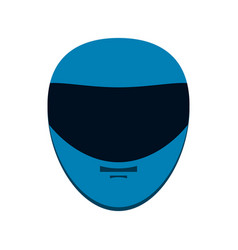 helmet motorcycle icon image vector image