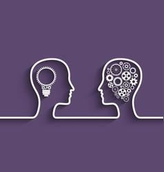 human head gears vector image