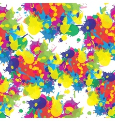 Indian festival seamless pattern colors splash vector