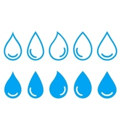 linear set water drops vector image