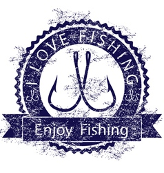 Love fishing vector image vector image
