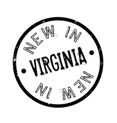 New in virginia rubber stamp vector