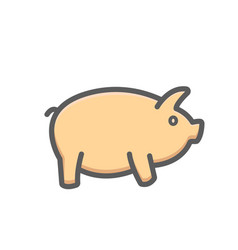 piggy icon bank banking earning money savings vector image