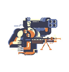 Soldier with gun vector