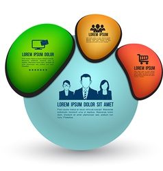 sphere template with icons vector image vector image