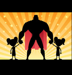super dad 2 twin girls vector image vector image