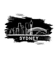 Sydney Skyline Silhouette Hand Drawn Sketch vector image vector image
