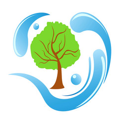 tree water logo vector image
