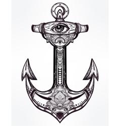 Vintage anchor symbol vector image vector image