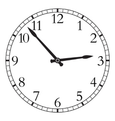 Watch isolated on a white background vector image