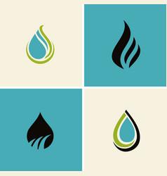 water drop abstract logos vector image