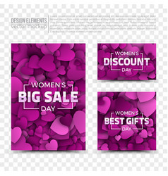 womens day design templates vector image vector image