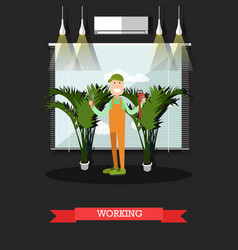 working plumber in flat style vector image