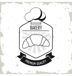 Croissant bread bakery food icon graphic vector