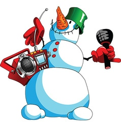 Snowman cartoon vector